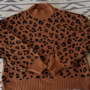 Old Navy leopard print sweater